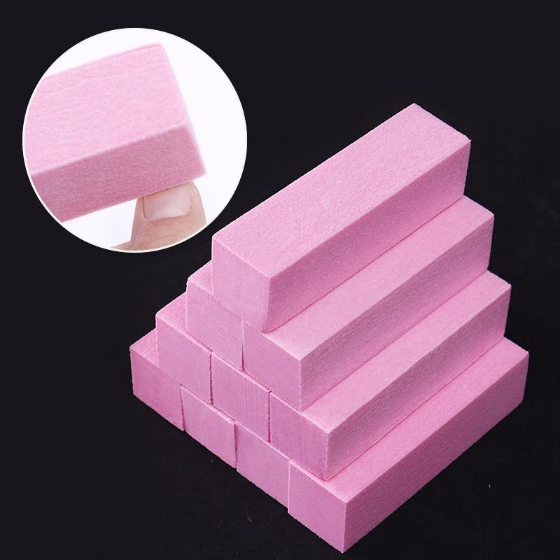 1 Set Pink White Form Nail Buffers File For UV Gel White Nail File Buffer Block Polish  Pedicure Sanding Nail Art Tool