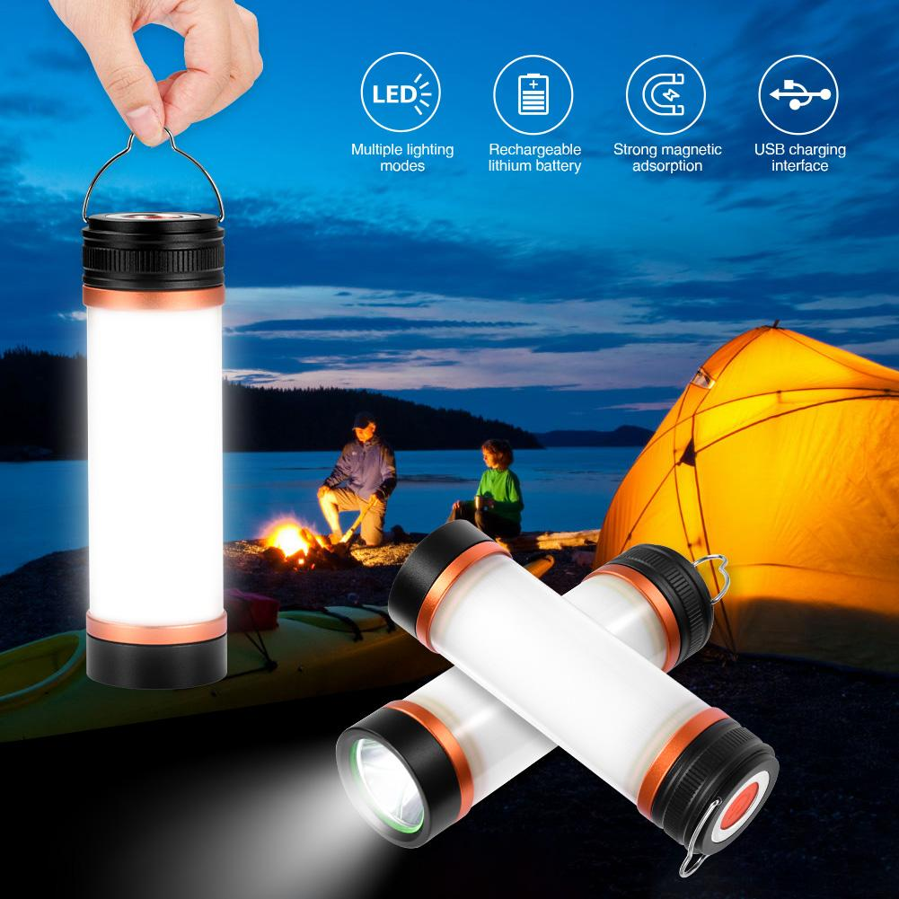 3w USB LED lámpara de Camping impermeable linterna de trabajo regulable linterna repelente de mosquitos luz linterna portátil de emergencia con gancho