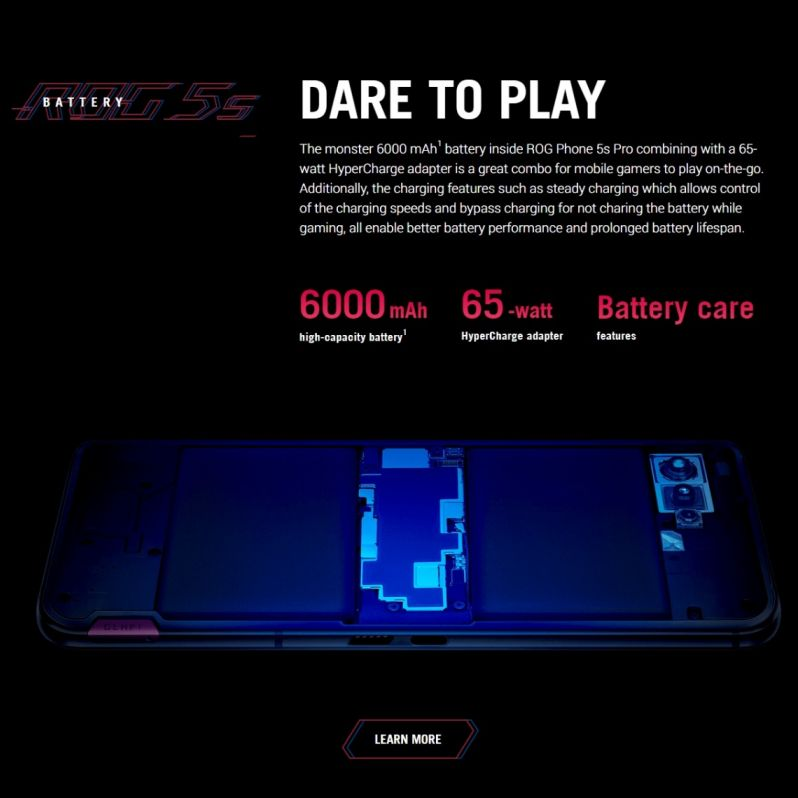 Origina ASUS ROG Phone 5s Pro Global Version Snapdragon888 18GB RAM 512GB ROM NFC 6000mAh 65W Support OTA smartphone ROG5S  PRO enlarge