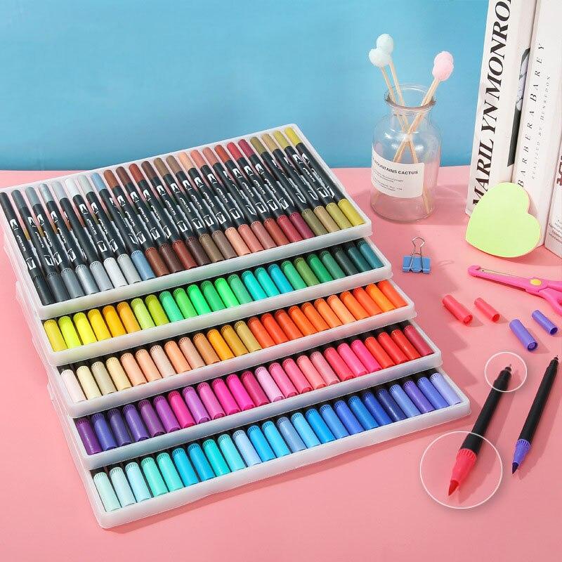 Rotuladores de arte Kawaii, 12/24/36/48/60/72/100/120 tinta de color Gen Manga, pincel de acuarela de Anime, lápices de pintura de Graffiti, nuevo