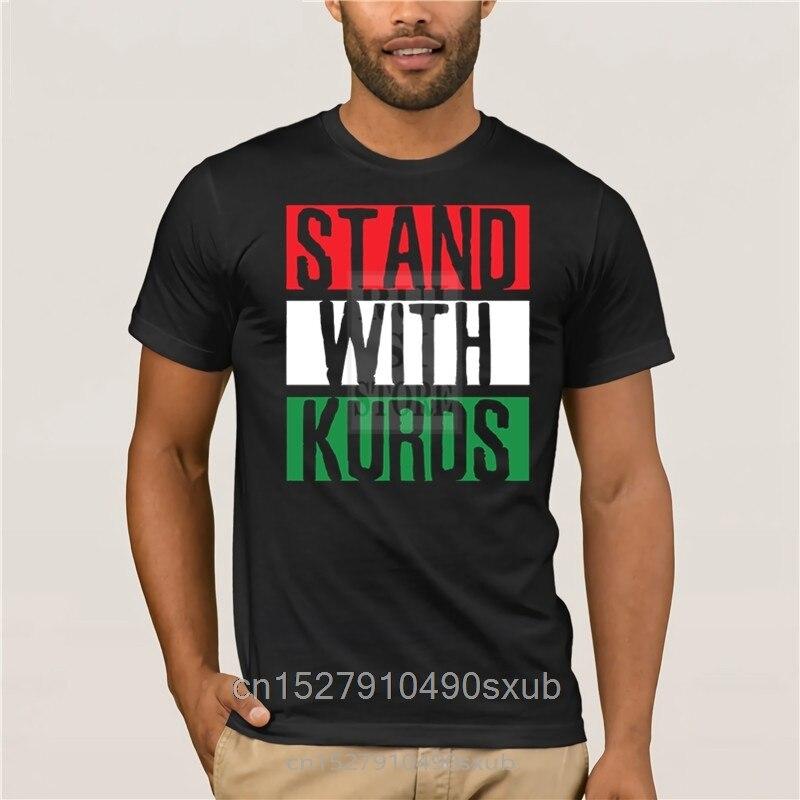 Kurdistán kurdos kurdo Bandera de Siria proteger Turquía camiseta nuevo estilo cuello redondo algodón personalizar ocio