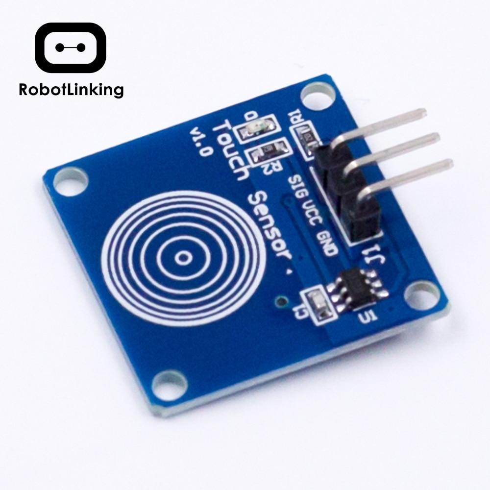 5 uds. TTP223B/TTP224/TTP226/TTP229 1/4/8/16 canales interruptor Digital capacitivo Módulo de Sensor táctil para Arduino