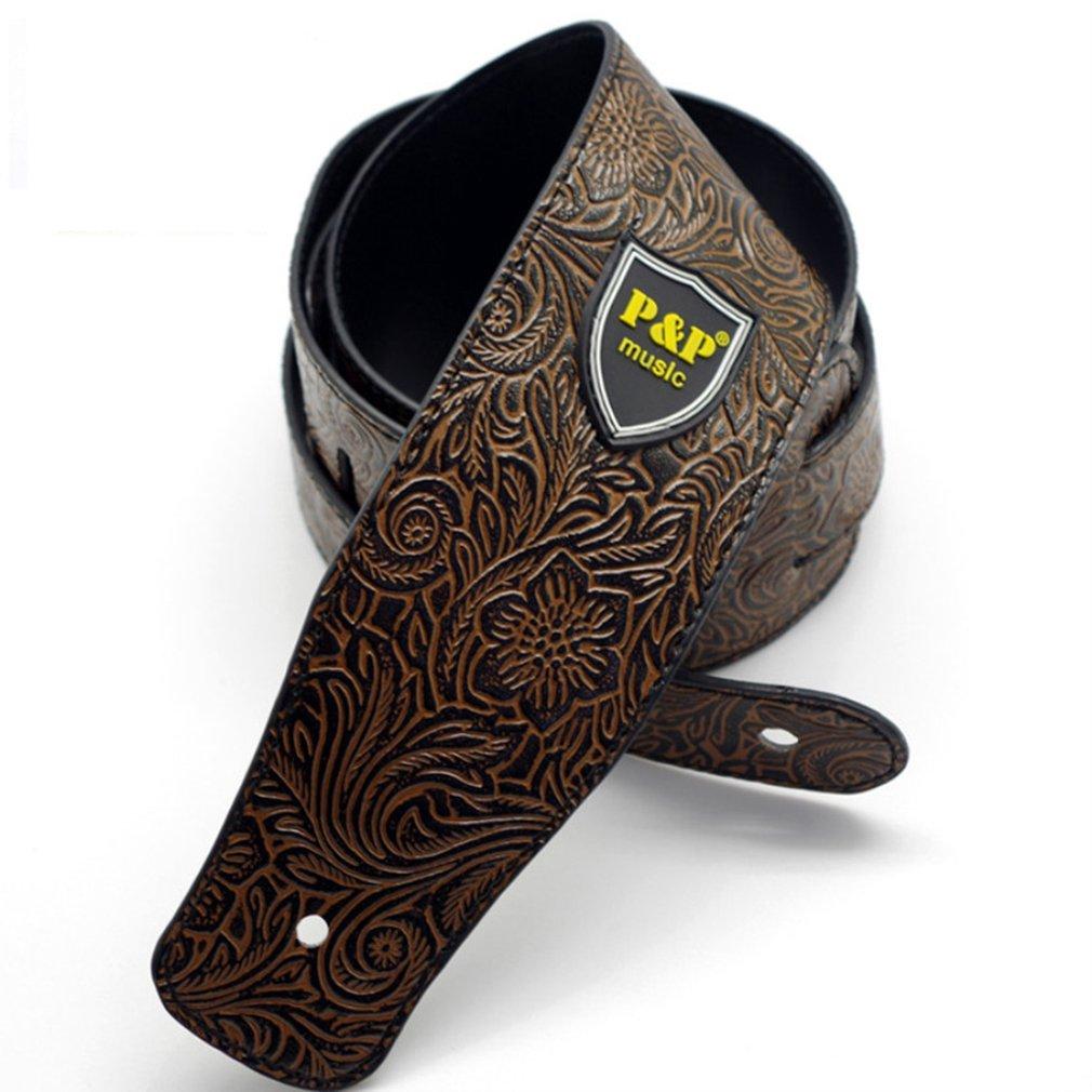 Personalized PU Leather Guitar Strap Acoustic Guitar Electric Guitar Shoulder Strap Adjustable Strap Musical Parts