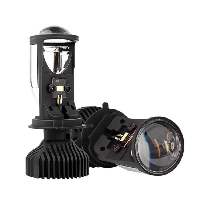 2020 marke Neue Y6D H4 LED Scheinwerfer auto H4 Mini Projektor Objektiv 6000K 25W Hohe Abblendlicht Auto led-leuchten