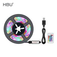 Светодиодная ленсветильник 5 В USB SMD 2835 RGB luces LED Bluetooth/IR TV фоновая подсветка Диодная лента Гибкая полоса 3Key неоновый свет