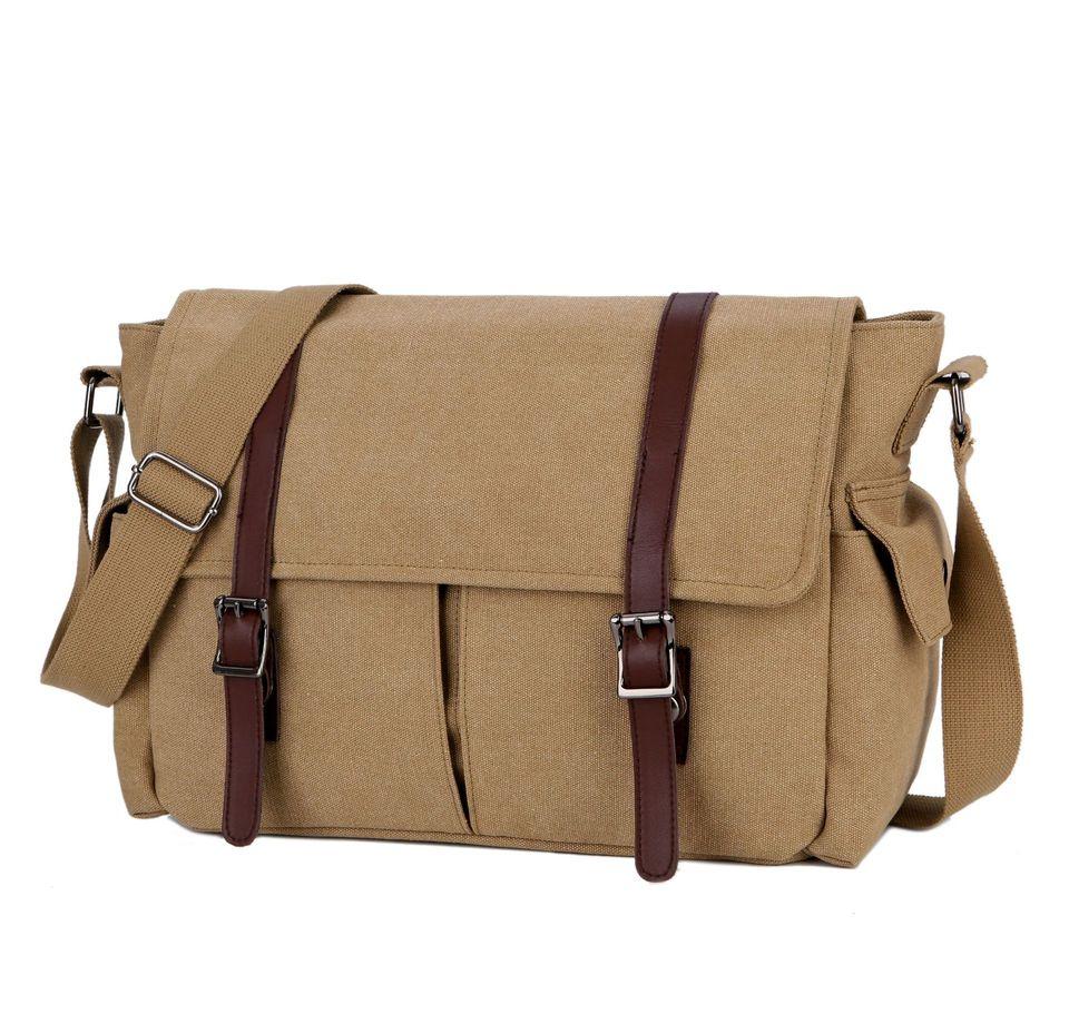 Scione Practical Business Messenger Bags For Men Shoulder Bag Canvas Crossbody Shoulder Pack Retro Casual Office Travel Bag Aliexpress