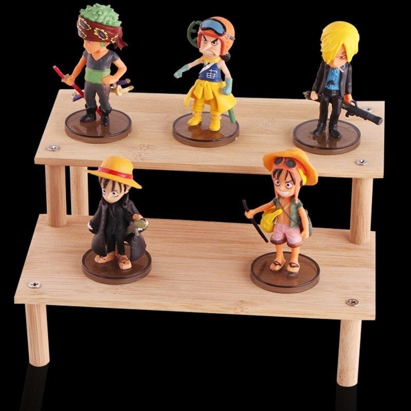 Madeira para figura de ação modelos estatuetas brinquedos unha polonês navios modelo brinquedo caso exibição cosméticos organizador