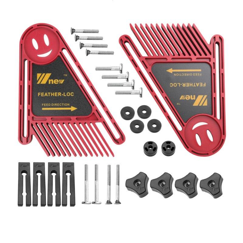 Juego de Tablas multiusos de pluma Loc juego de Tablas de plumas dobles ranura de calibre para inglete Tabla de sierra para carpintería herramientas de seguridad DIY