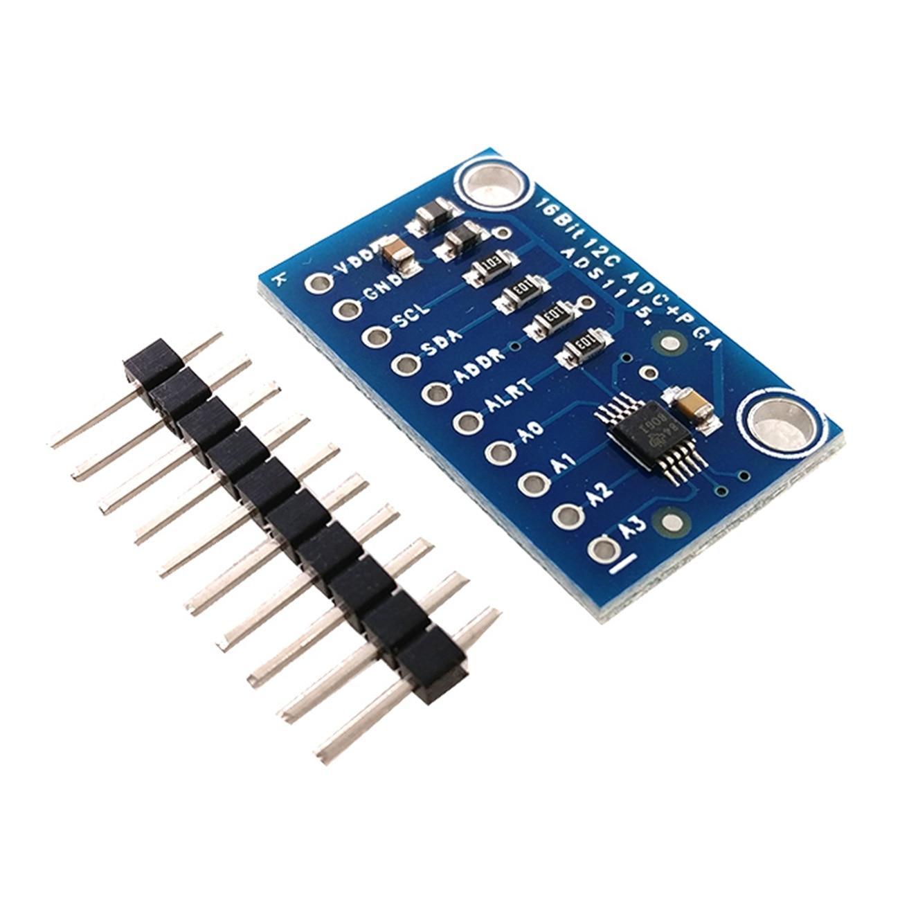 10 Uds. Módulo adc de 16 bits i2c ads1115 de 4 canales con amplificador de ganancia pro rpi