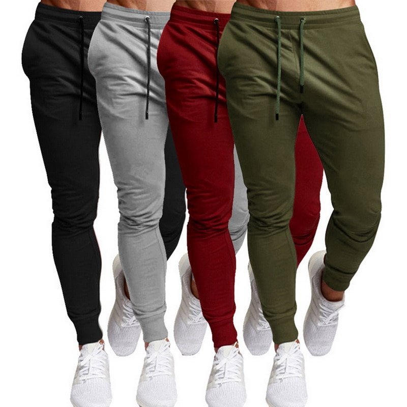 2021 New Jogging Pants Men's Sports And Leisure Trousers Running Pants Men Joggers Sweatpants Slim Fit Pants Bodybuilding Pants