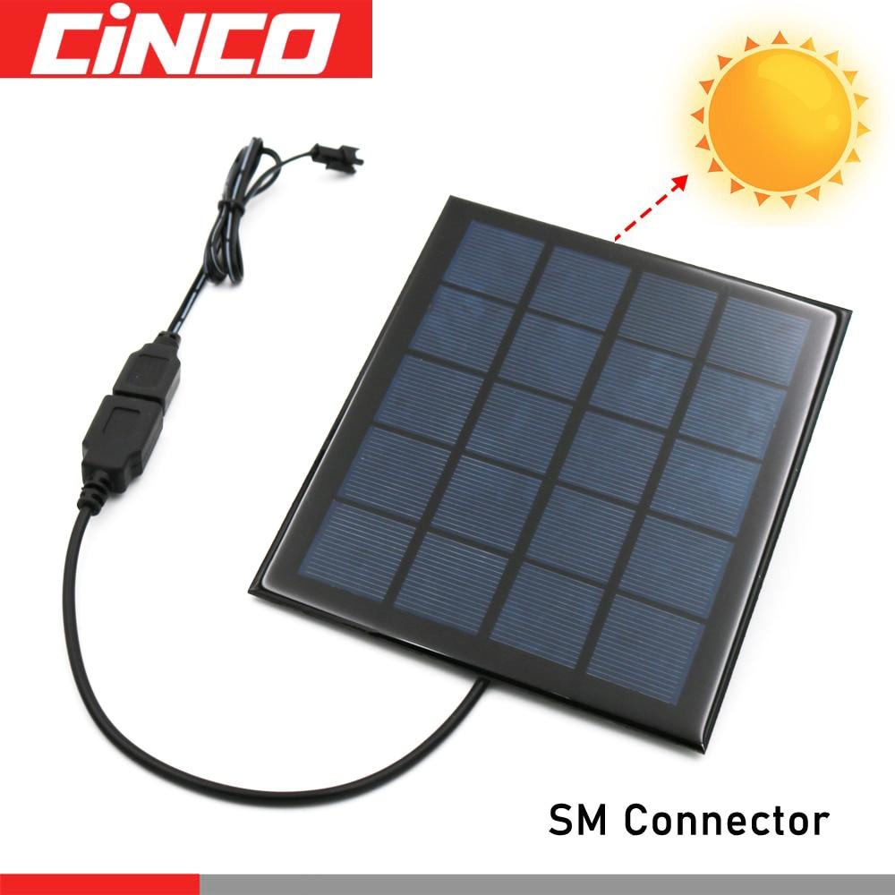 Cable de carga 3,6/4,8/6/7, 2/8, 4/9, 6V Panel Solar cargador de batería USB ni-cd Ni-MH paquete de baterías SM adaptador de enchufe salida Juguetes Coche