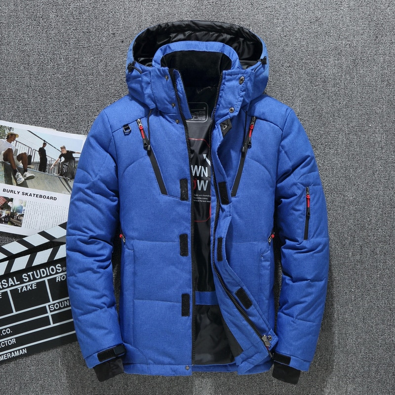 High Quality White Duck Thick Men's Down Jacket Snow Parkas Male Warm Hooded Windproof Winter Down Jacket Outerwear girls winter fur collar down parkas children thicken windproof long down jacket teenagers hooded warm outerwear aa51904