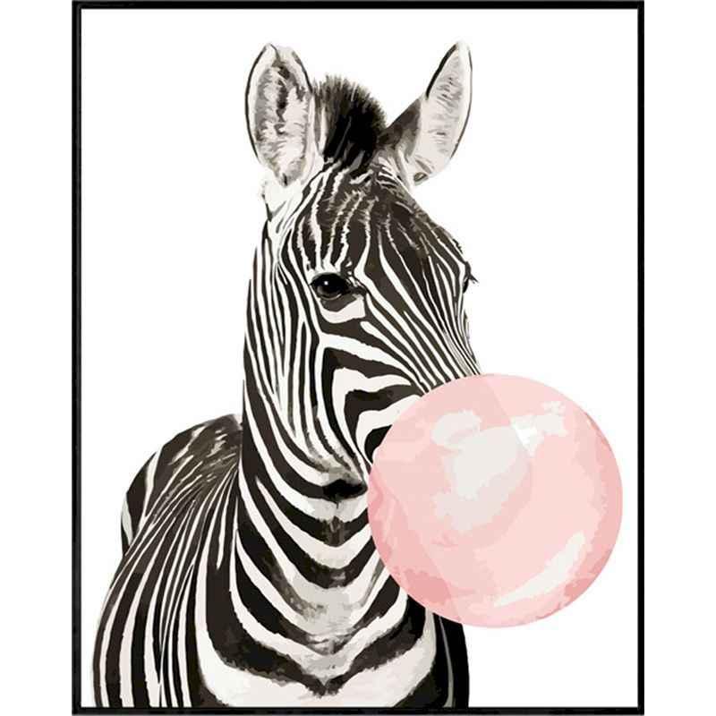 Malerei Durch Zahlen Blase Zebra 60x75 Rahmen Erwachsene Diy Kits Farbe Leinwand Acryl Farbe Färbung Durch Zahlen Decor Kunst Malen Nach Zahlen Aliexpress