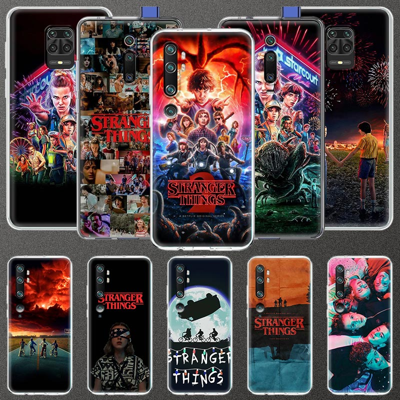 Funda de Stranger Things de TV para Xiaomi Redmi Note 8 9S 8T 9A 7 7A 8A K30 Pro Mi CC9 CC9e A3 10 Lite claro suave funda de teléfono móvil
