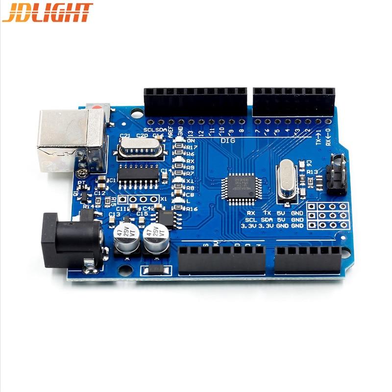 1 Set UNO R3 Development Board ATmega328P CH340 CH340G For Arduino UNO R3 With Straight Pin Header + USB CABLE