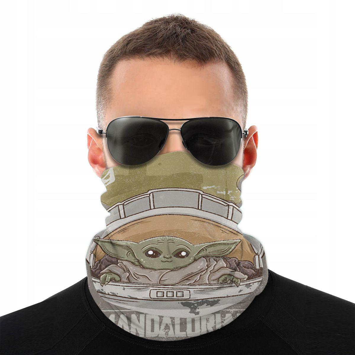 Bebê yoda magia lenço meia máscara facial unisex tubo máscara mandalorian star wars tubular bandanas versatilidade bandana ciclismo caminhadas