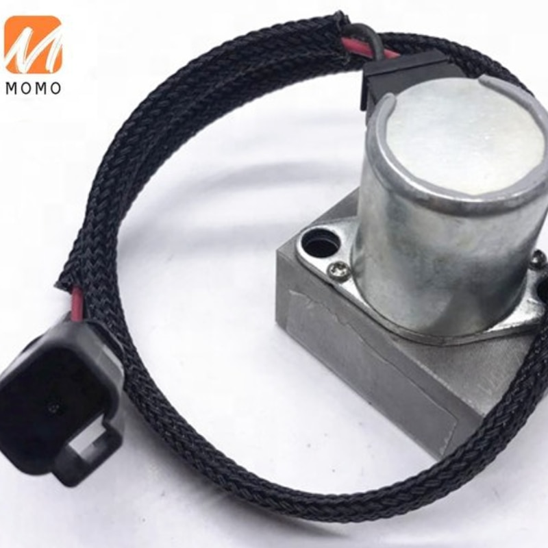 hydraulic Pump Solenoid   Excavator Replacement Parts PC200-7 702-21-57400 hpv091 hydraulic pump parts head cover for ex200 2 excavator main pump