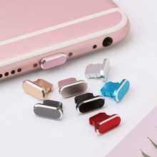 1PC Colorful Metal Anti Dust Charger Dock Plug Stopper Cap Cover for iPhone X XR Max 8 7 6S Plus Cel