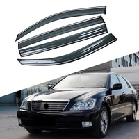 for toyota crown crs grs 2003 2008 car window sun rain shade visor shield shelter protector cover trim frame sticker accessories