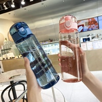 Спортивная бутылка для воды 780 мл, бутылка для воды на открытом воздухе с соломинкой, пластиковая портативная чашка для воды, посуда, бутылка...