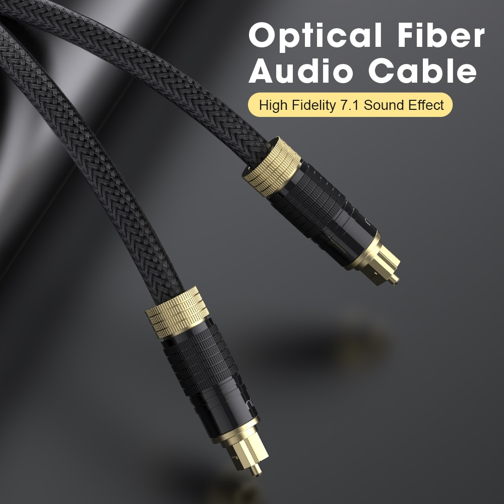 Cables de Audio y vídeo digitales, fibra óptica, Optico, cobre libre de...