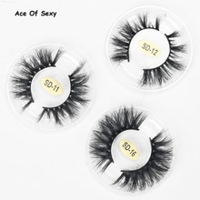 Aceofsexy vison cílios 3d vison cílios 100% crueldade livre cílios artesanais reutilizáveis cílios naturais populares falsos maquiagem