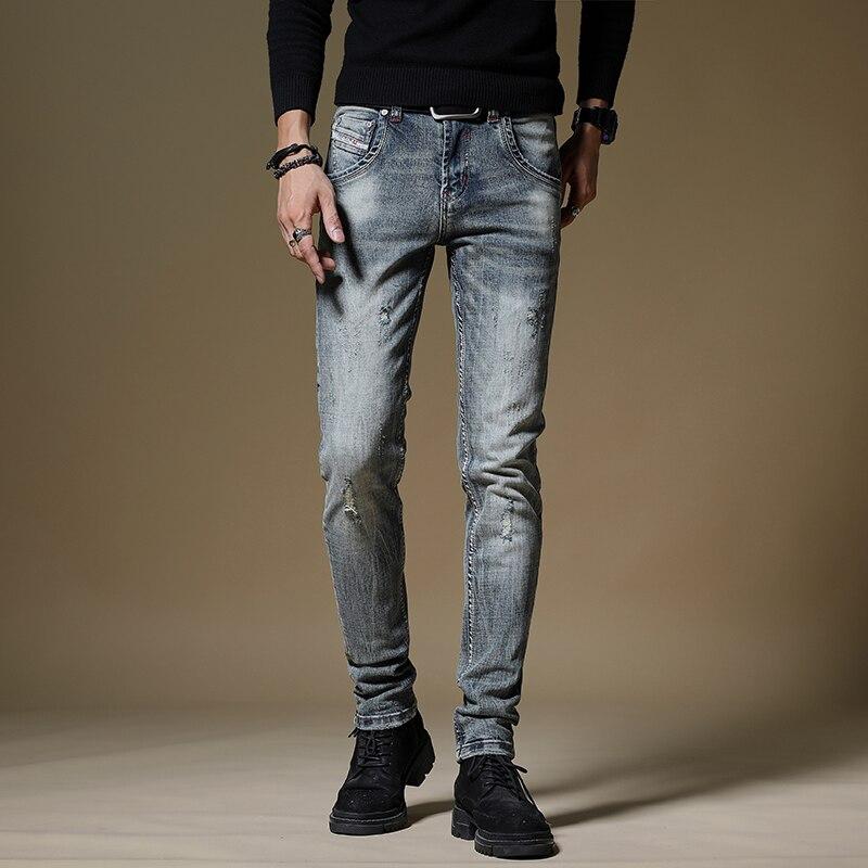 Мужские джинсы, облегающие мужские брюки, брюки, джинсы для мужчин, мужские джинсы, Мужская Уличная одежда, джинсы, мужская одежда