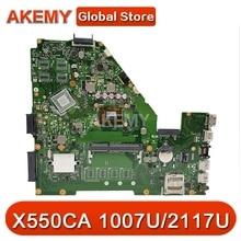 Akemy X550CC Laptop motherboard para ASUS X550CA X550CL R510C Y581C X550C mainboard original 0GB-RAM 1007U/2117U CPU