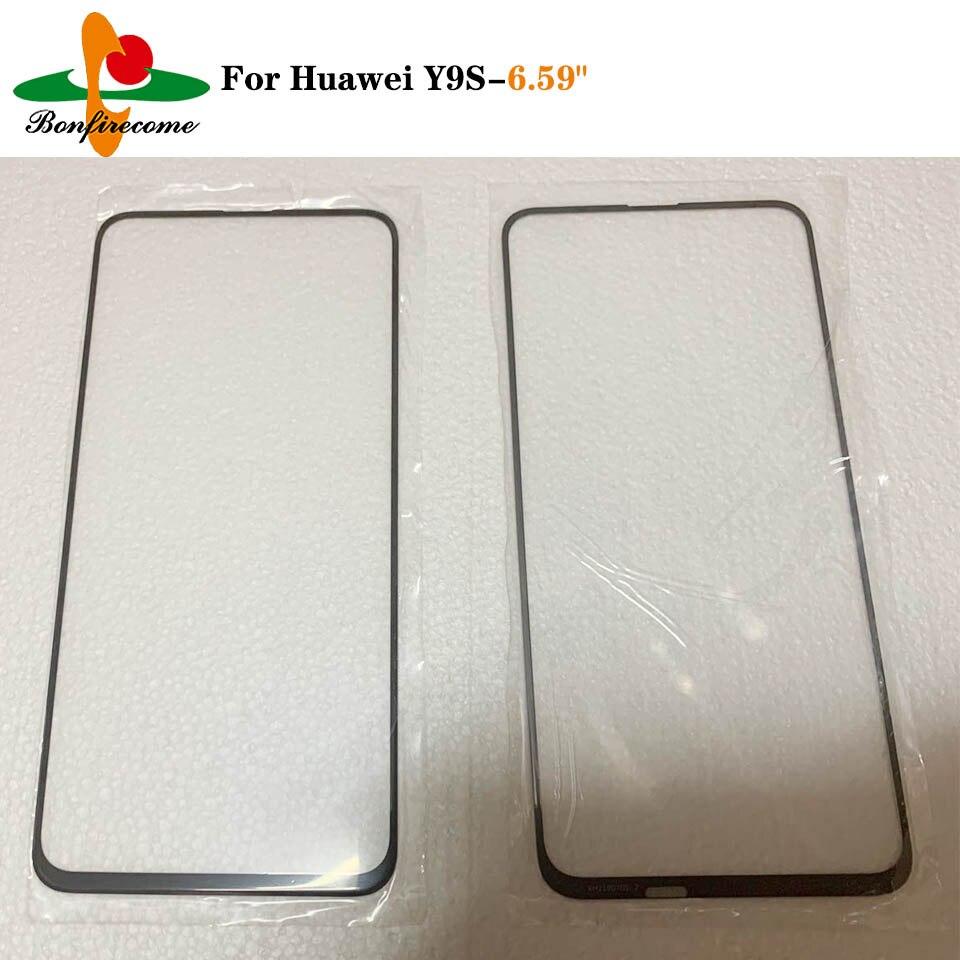 10 Uds  lote pantalla táctil para Huawei Y9s STK-L21 STK-L22 STK-LX3 frente Panel táctil pantalla LCD de reemplazo de lentes de vidrio exterior
