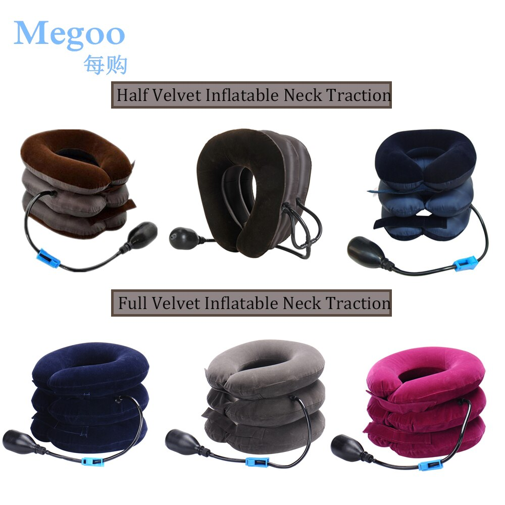 Portable Inflatable Neck Traction Cervical Correction Device Home and Travel U Type Air Pillow for Neck Relaxing Pain Relieving