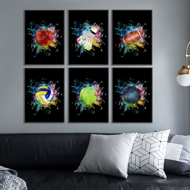 Ball sports basketball bowling club wall art canvas poster printing office painting home living room decoration painting poster