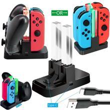 Controller Ladegerät für Nintendo Schalter Lade Dock Stehen Station für Schalter Freude-con und Pro Controller mit Lade Anzeige