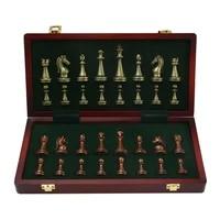 primium metal chess set luxury matte chessboard educational brain training folding board games table kids professional gift toys