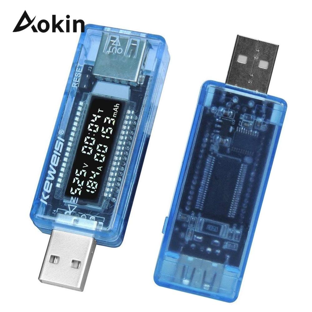 USB-тестер емкости аккумуляторов, измеритель емкости и напряжения тока, внешних аккумуляторов