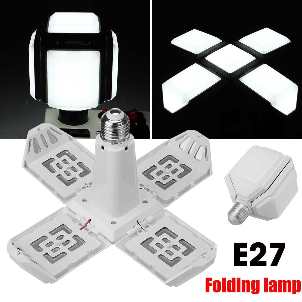 40 Вт E27 светодиодный гараж светильник 360 градусов деформируемая игрушка потолочный светильник для дома склад мастерская откидной крышкой 4 ...