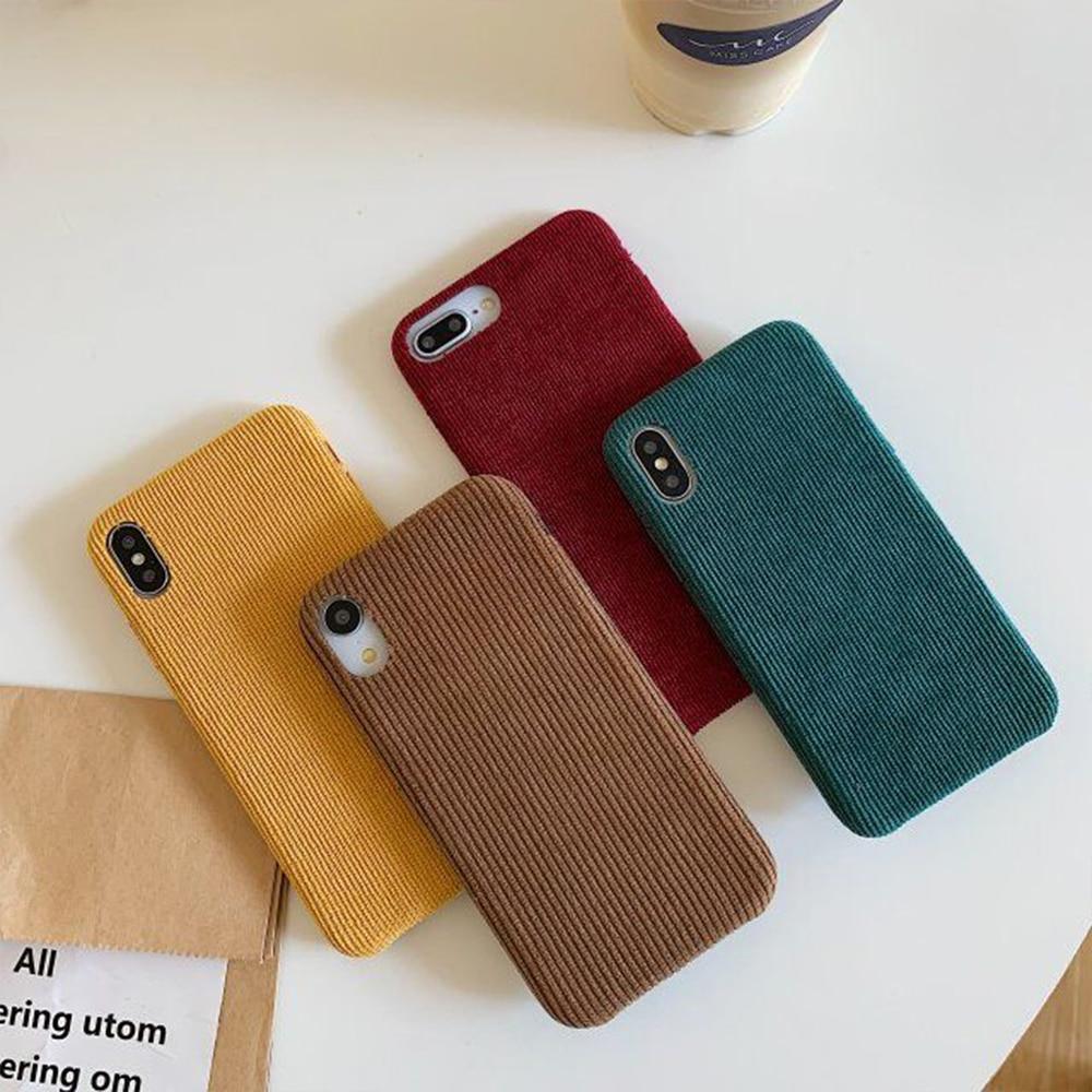 Capa de telefone de pano de veludo para iphone 11 pro x xr xs max casos para iphone 7plus 7 8 mais quente fuzzy duro capa para pc coque