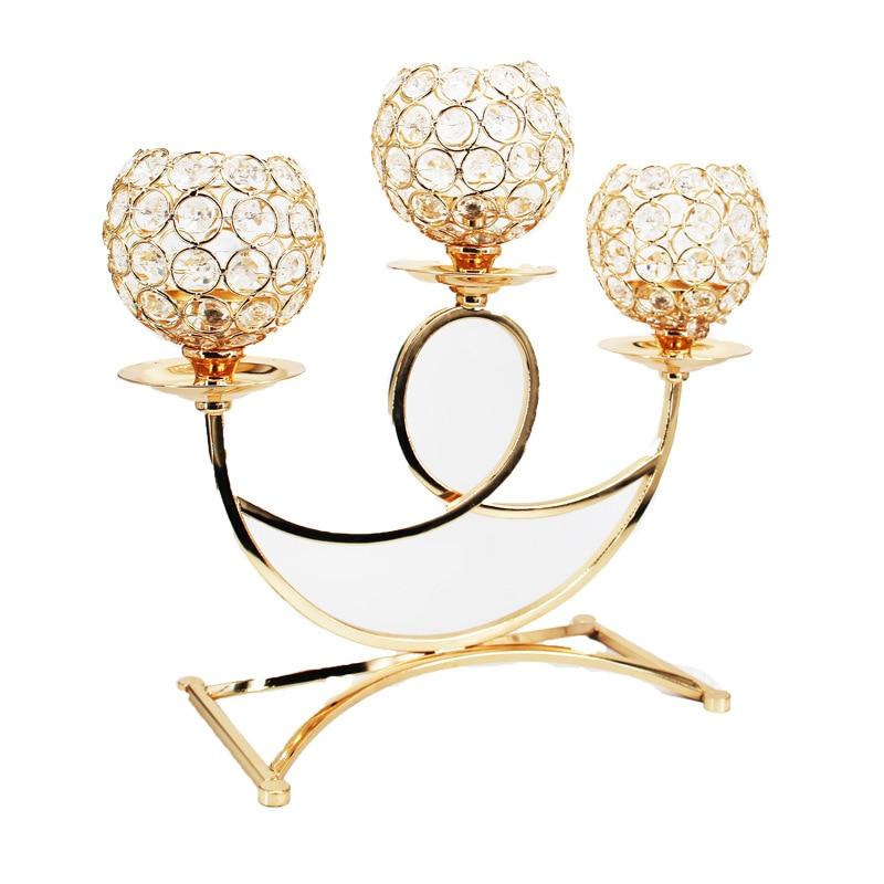 Vintage rétro Votive support de bougie chauffe-plat chandelier 3 bras candélabres mariage fête dîner Table centres de Table décoration