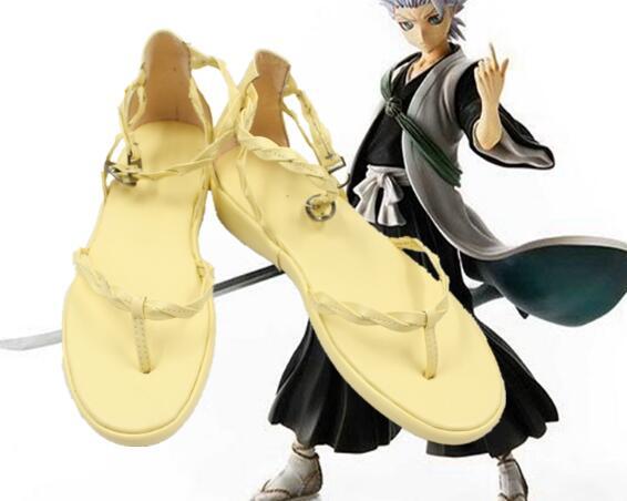 Lixívia hitsugaya toushirou cosplay sapatos botas feitas sob encomenda