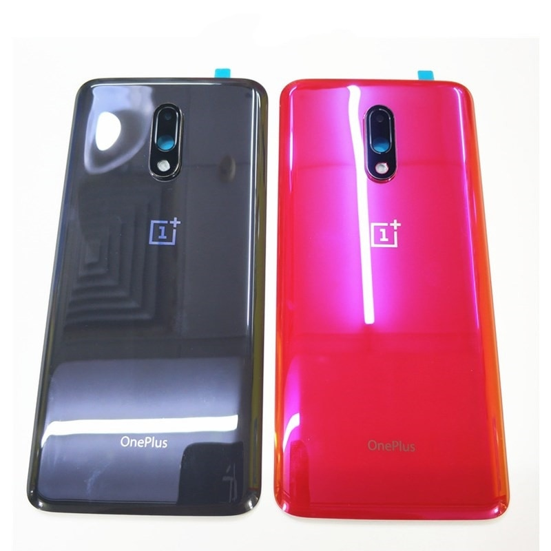 Original Glass Back Case For OnePlus 7 Battery Cover Back Rear Door Housing Replacement Parts For On