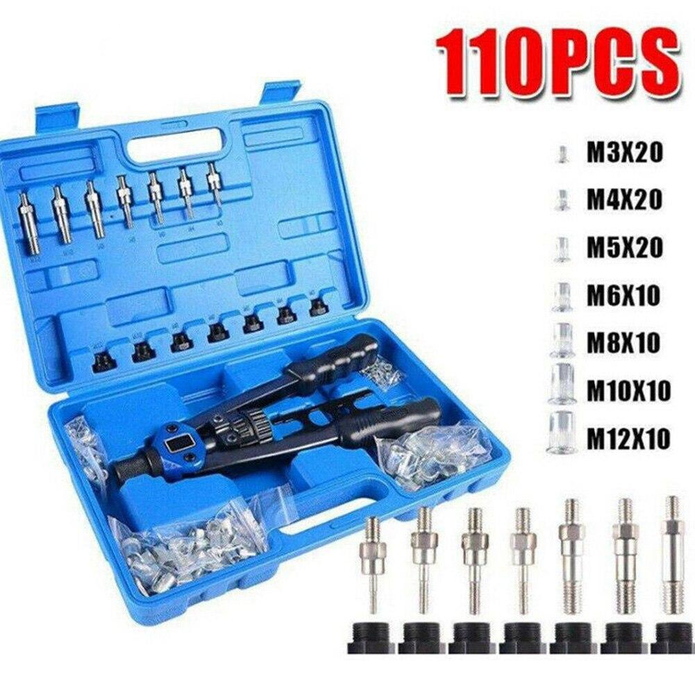 PVC Rivet Tool Rivet Nut Kit Riveter Guns Setting Tool Mandrel Riveting Machine M3-M12 Nut  For Metal Fabrication Appliances