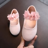 korean style sweet girls flowers princess leather shoes soft sole velcro 1 8 years old kids flat shoes t21n04ls 39