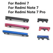 Для Xiaomi Redmi 7 Note 7 Pro Power + Кнопка ВКЛ./ВЫКЛ. Громкость вверх вниз Боковая кнопка Набор клавиш Запасная часть