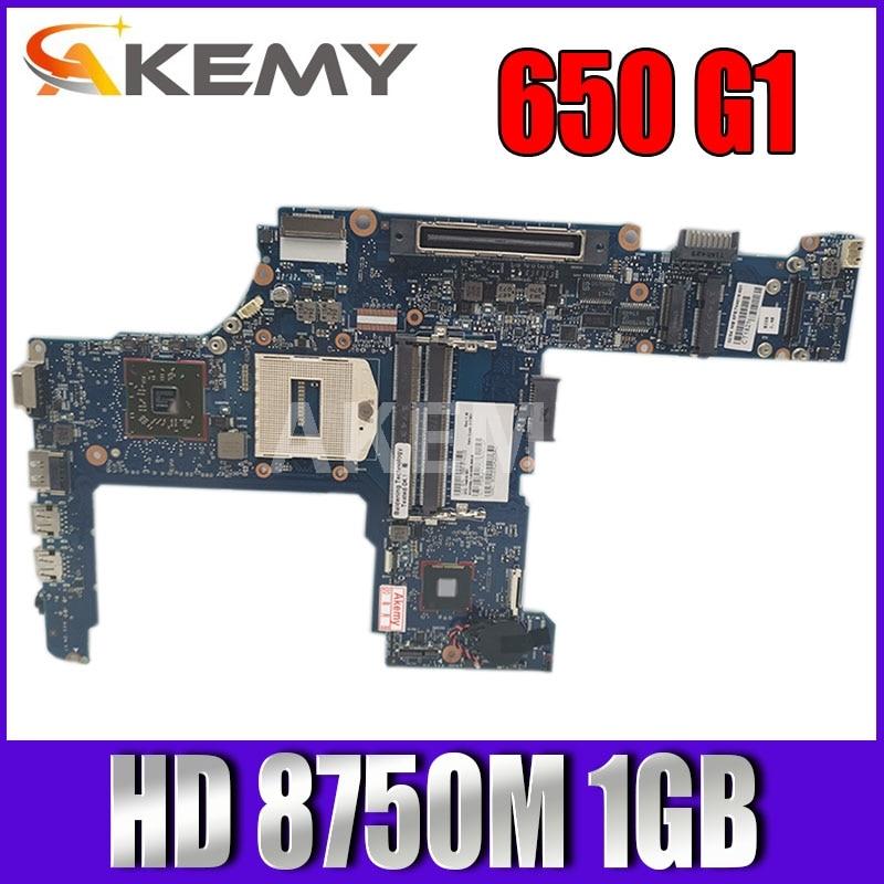 AKemy-اللوحة الأم للكمبيوتر الدفتري HP PROBOOK 650 G1 ، 744018-001 744018-501 PGA947 6050A2566401-MB HD 8750M 1GB