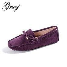 100% en cuir véritable femmes appartements nouvelle marque à la main femmes chaussures en cuir décontracté en cuir mocassin mode femmes chaussures de conduite