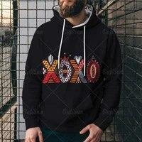 new xoxo pattern sweatshirts 3d sweatshirt menwomen hooded autumn and winter coat mens clothing funny jacket hooded sweatshirts
