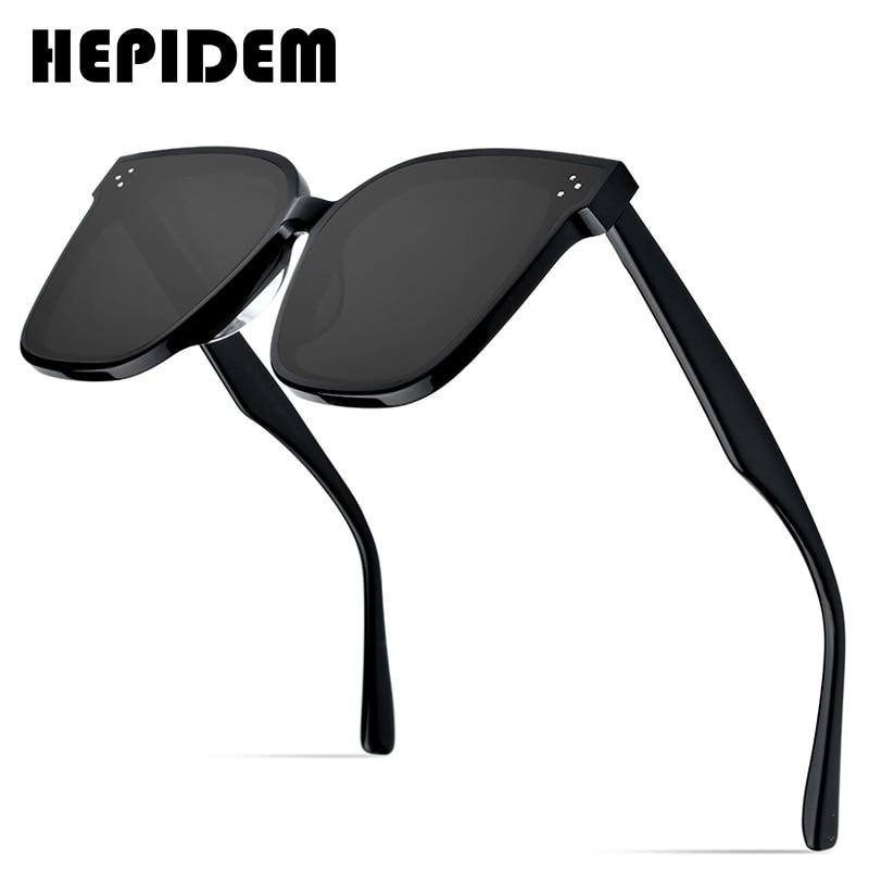 HEPIDEM-نظارات شمسية مستديرة من الأسيتات للرجال والنساء ، نظارات شمسية ريترو ، تصميم ماركة أزياء ، عتيق ، معكوسة ، gm her ، 2020