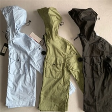2021 New men's spring and autumn hooded fashion casual solid color all-match Jacket