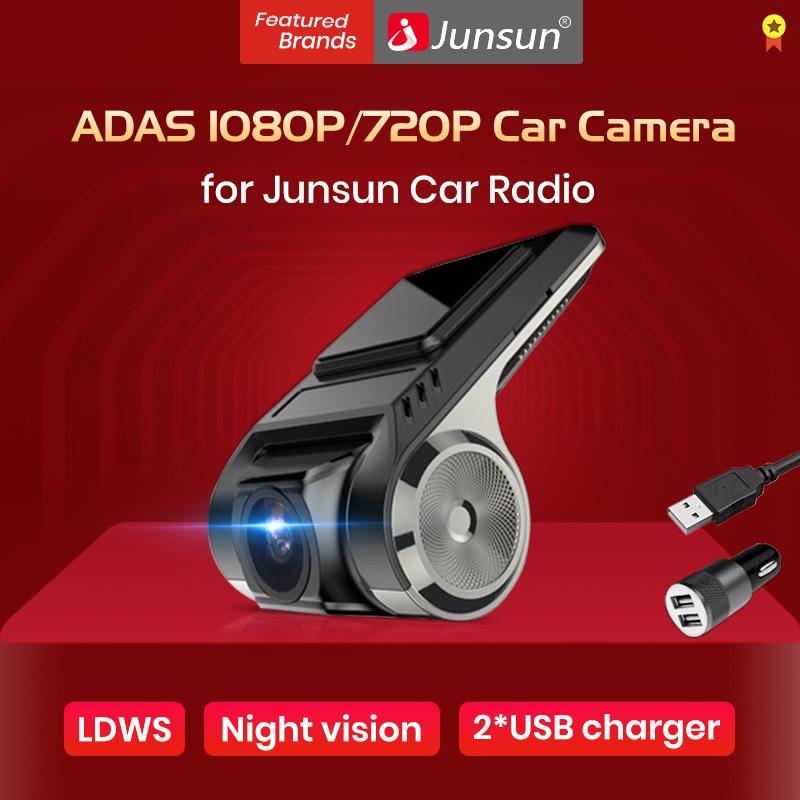 Para Junsun V1/V1 Pro Android reproductor Multimedia radio con ADAS coche DVR Camerd cámara de salpicadero 720p/1080p
