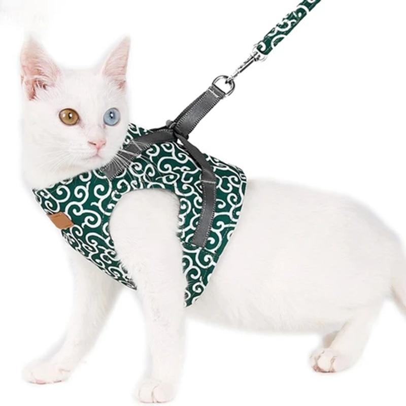 Gato chaleco arnés y caminando Correa correa de pecho gato ropa de mascotas suministra productos para mascotas TB venta