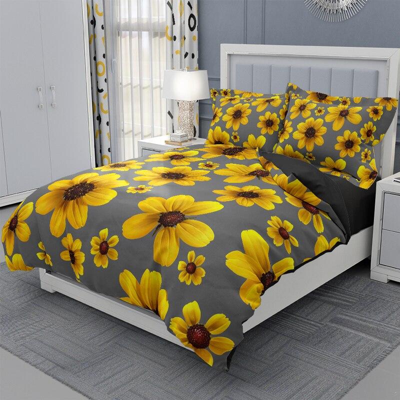 طقم سرير ثلاثية الأبعاد الملكة حجم الزهور أنيقة حاف الغطاء المنسوجات المنزلية لحاف من البوليستر غطاء واحد غطاء سرير مزدوج 220x240